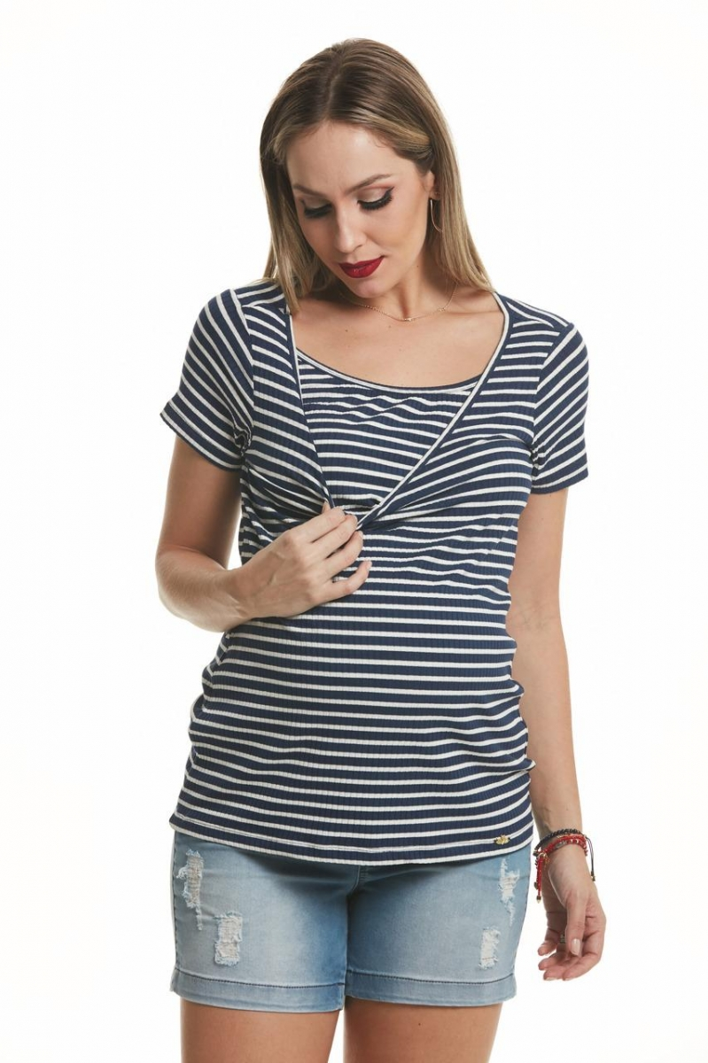 Blusa Gestante Amamentaçao com Top Madison Due Vita