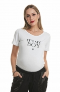 Camiseta Gestante Its My Boy Branca Due Vita