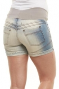 Shorts Gestante Jeans Meia Coxa Isís Due Jeans