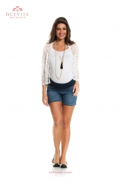 Shorts Jeans Gestante Curto Emma Due Jeans